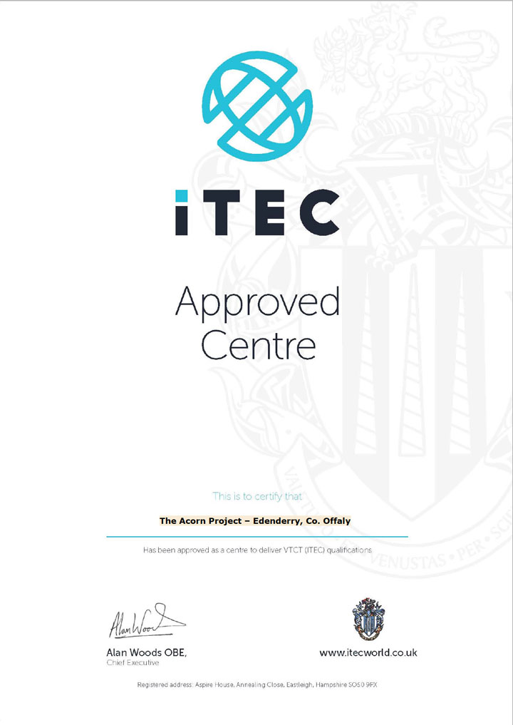 ITEC Approval Document for Acorn Project Edenderry